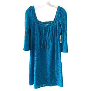 Laundry By Design Lace Crochet Dress Small NWT
